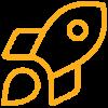 icone d'une fusée pour illustrer le terme innovation
