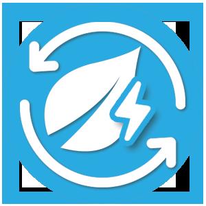 icone illustrant l'energie renouvelable